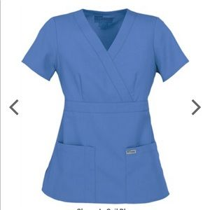 Greys Anatomy Ciel Blue Scrub Set